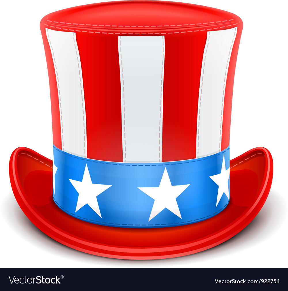 Usa top hat for independence Vector Image