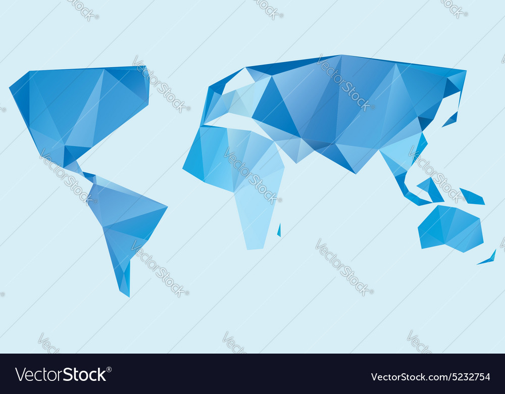 Triangle world map royalty free vector image vectorstock triangle world map vector image gumiabroncs Image collections