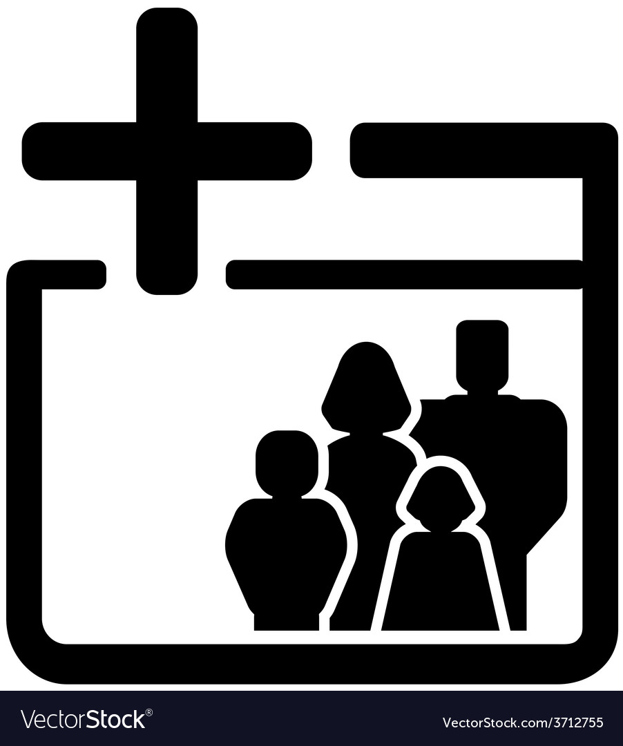 Family medical black icon vector image