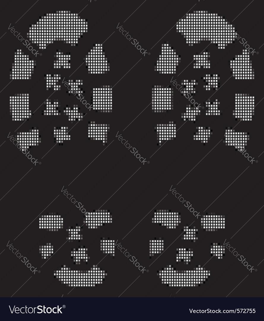 Grunge bootprints vector image