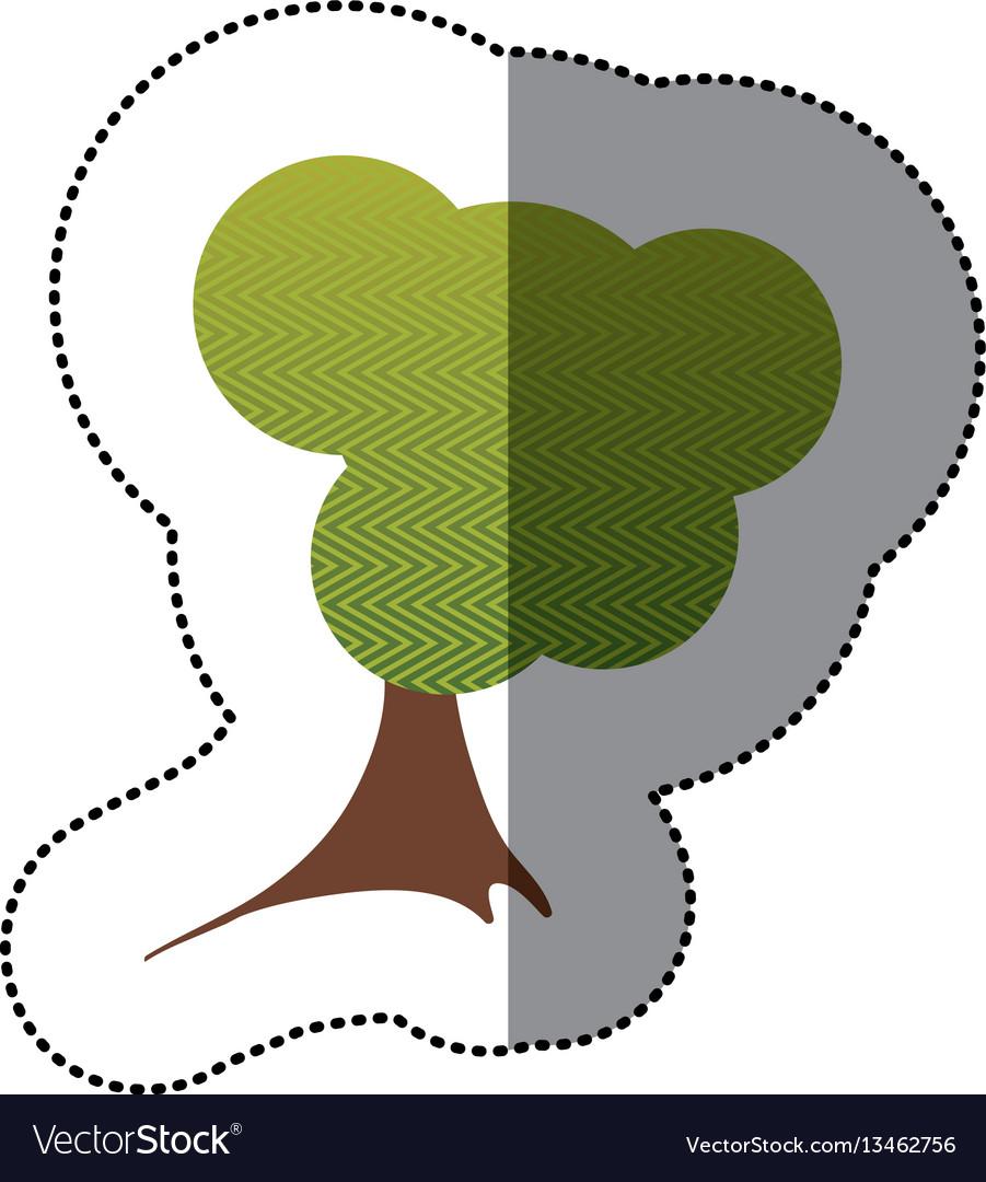 Color sticker creative tree icon vector image