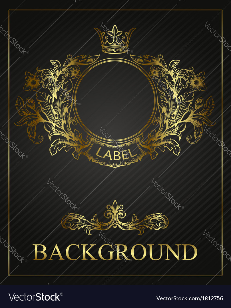 Golden emblem cartouche vector image