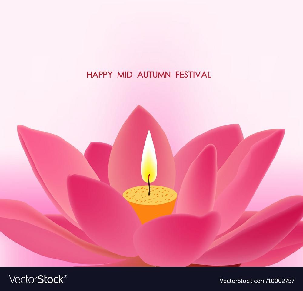 Chinese mid autumn festival background lotus vector image izmirmasajfo
