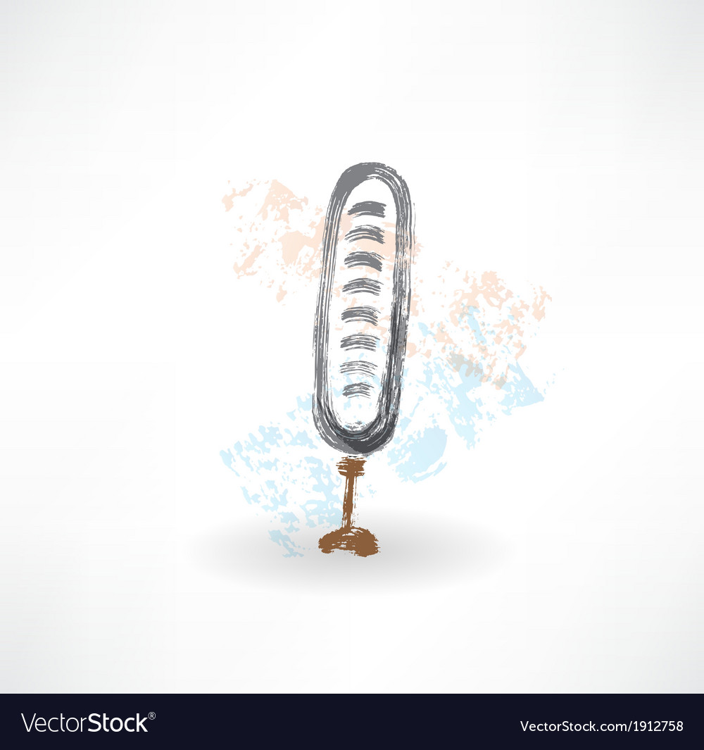 Brush microphone icon vector image