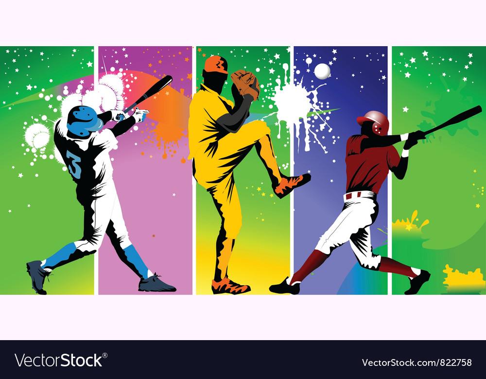 Club baseball champions vector image