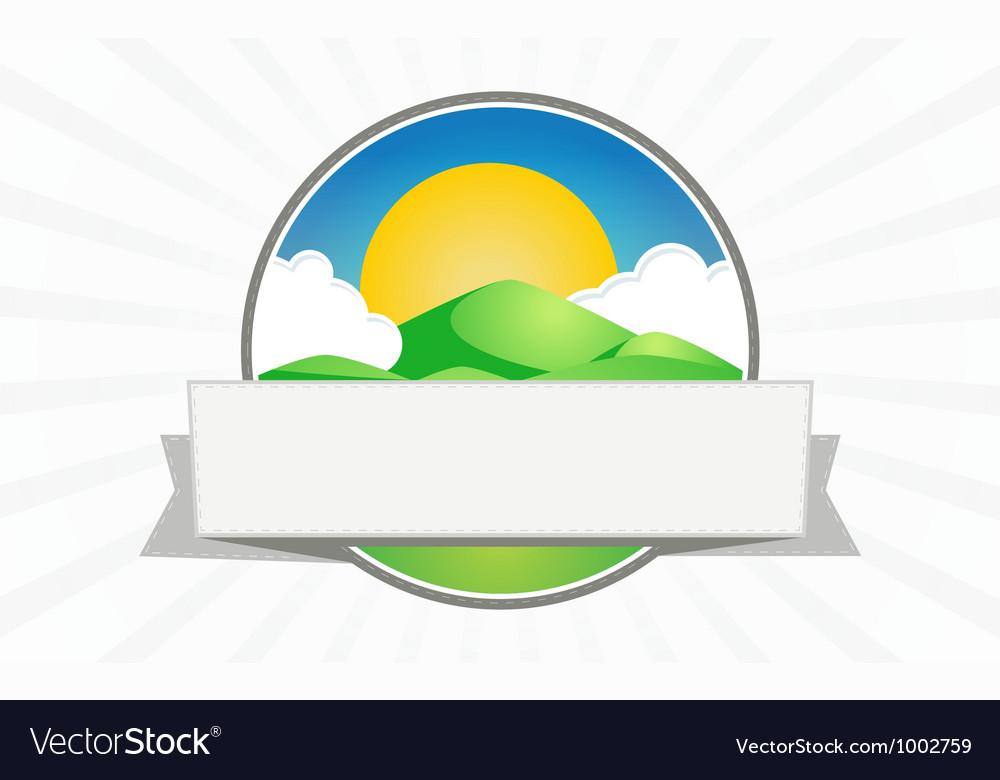 Clean mountain seal vector image