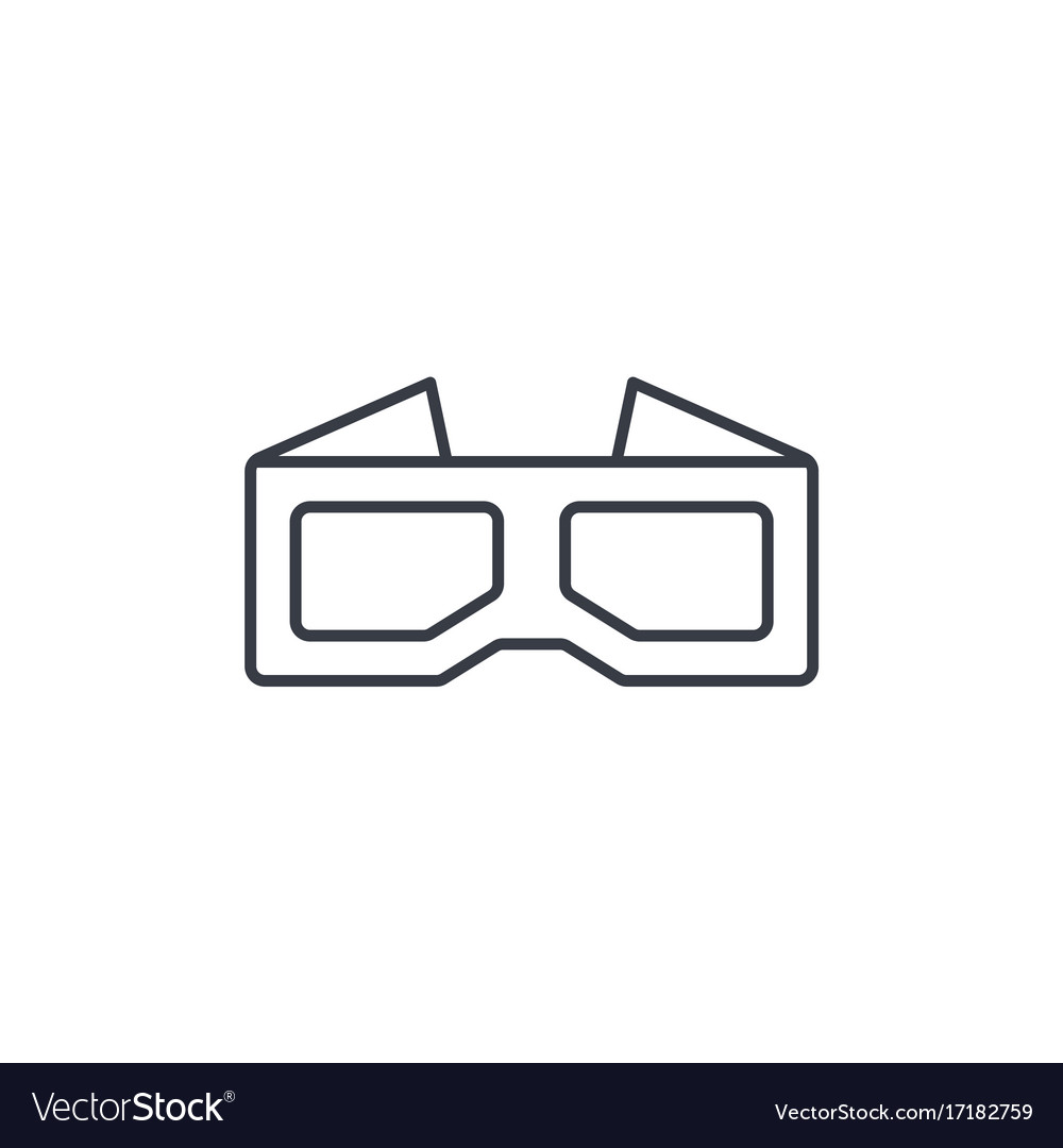 Glasses for movie thin line icon linear royalty free vector glasses for movie thin line icon linear vector image biocorpaavc