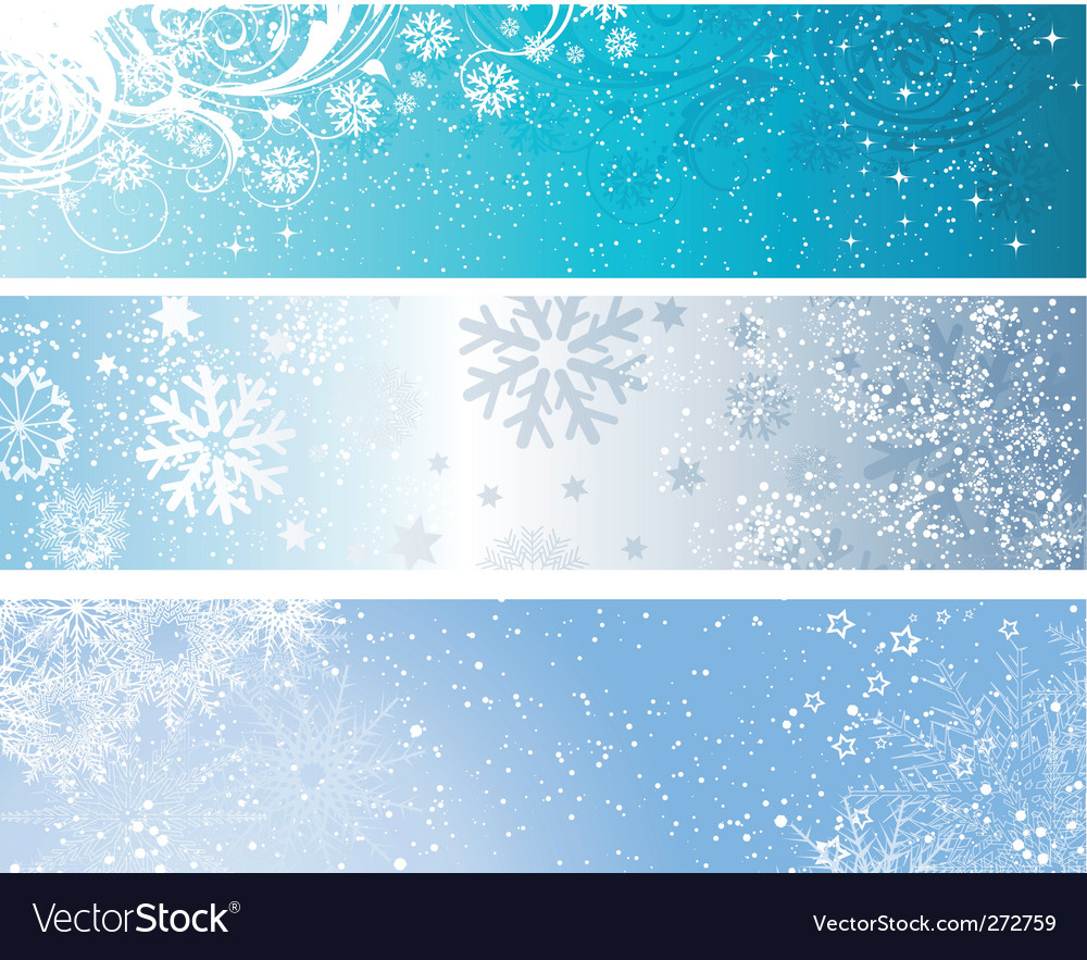Winter banners vector image