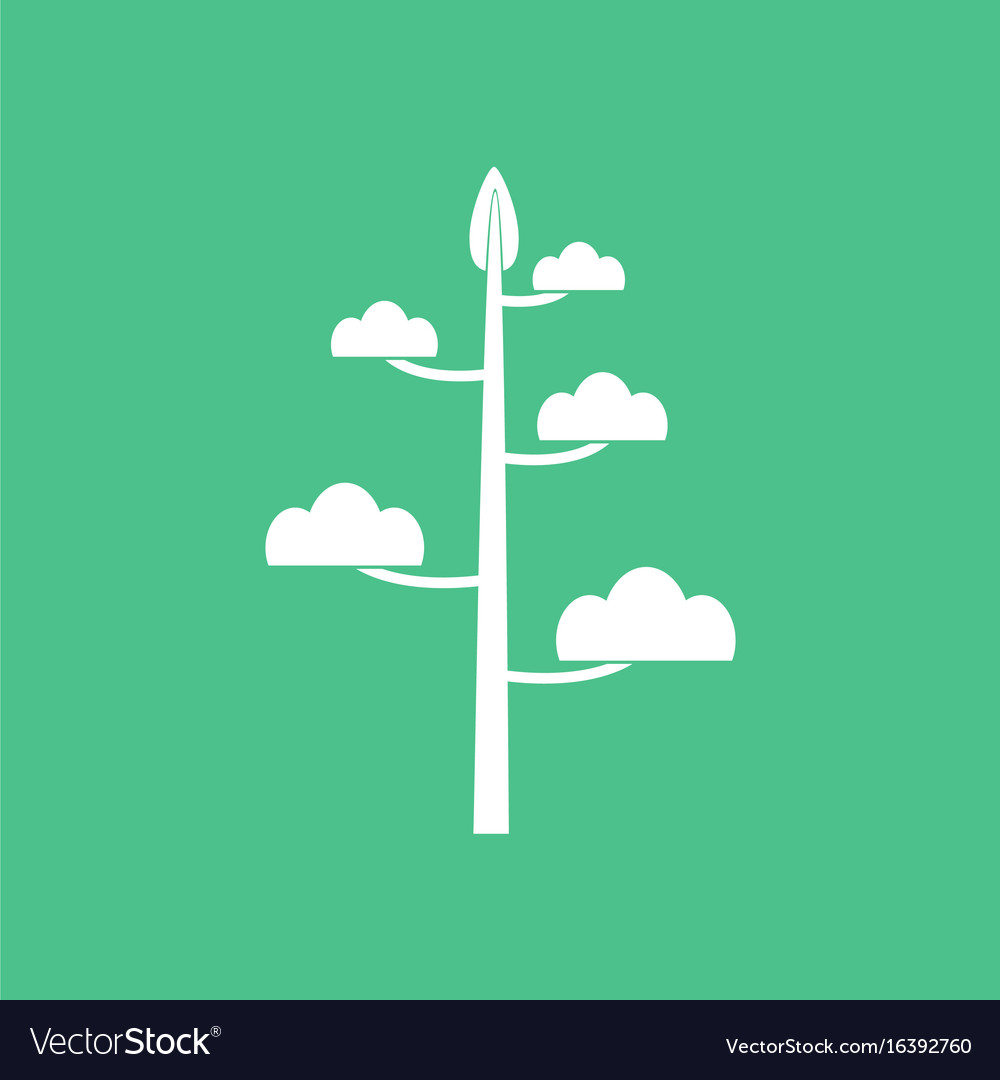 minimalist green tree logo symbol
