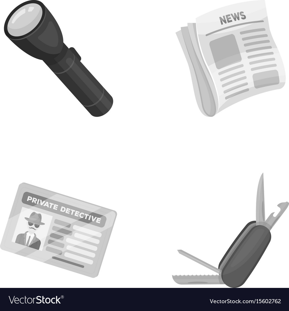 Flashlight newspaper with news certificate vector image