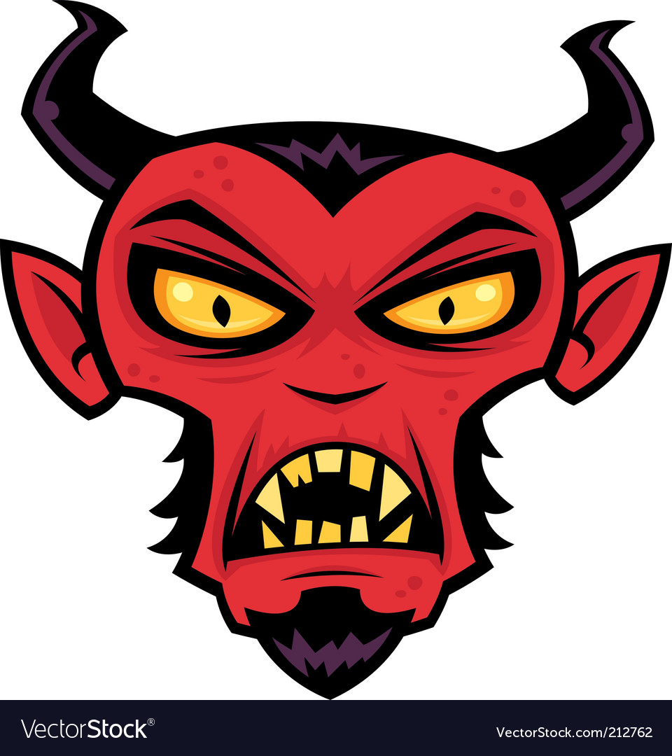 Mad devil vector image