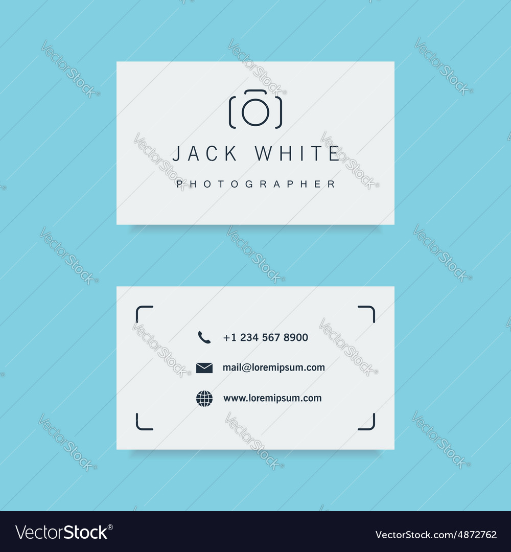 Photographer business card template royalty free vector photographer business card template vector image alramifo Gallery