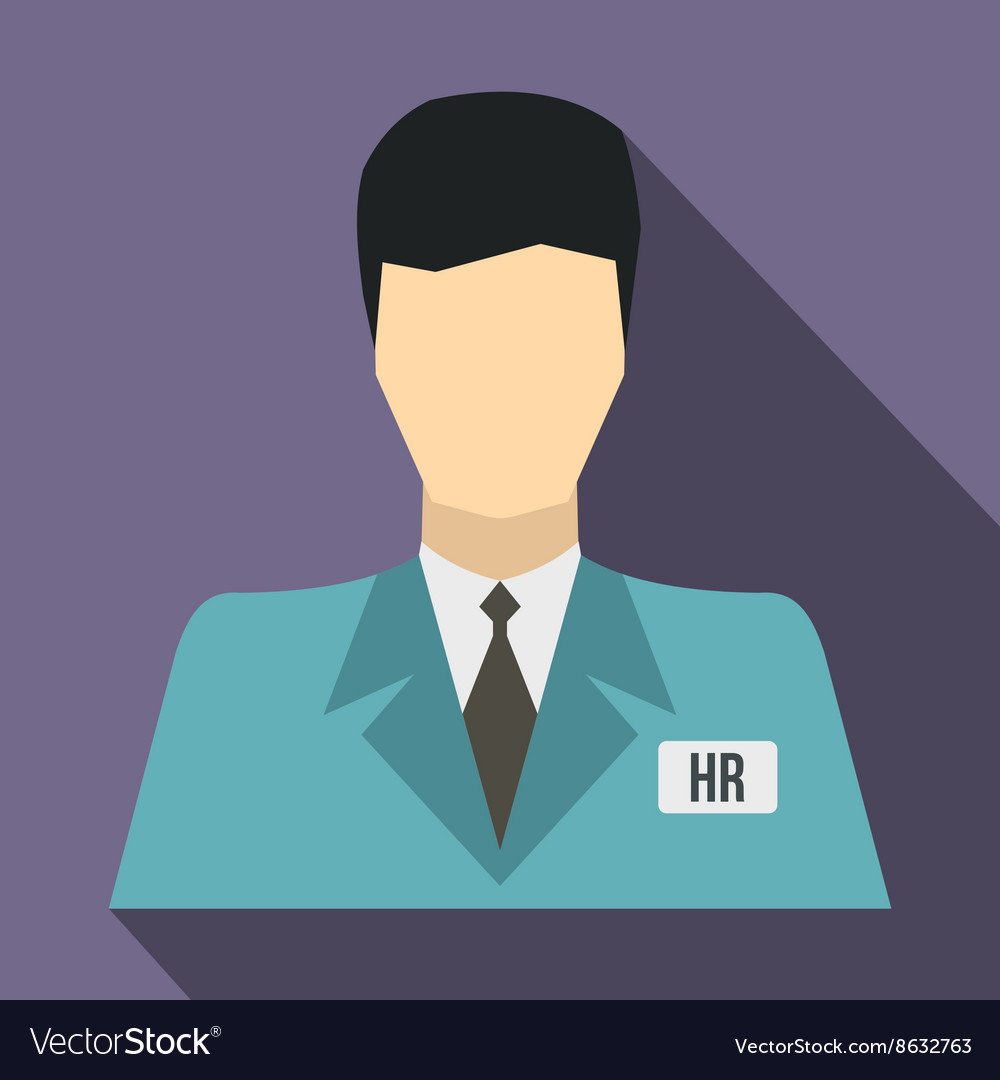 HR manager icon flat style vector image