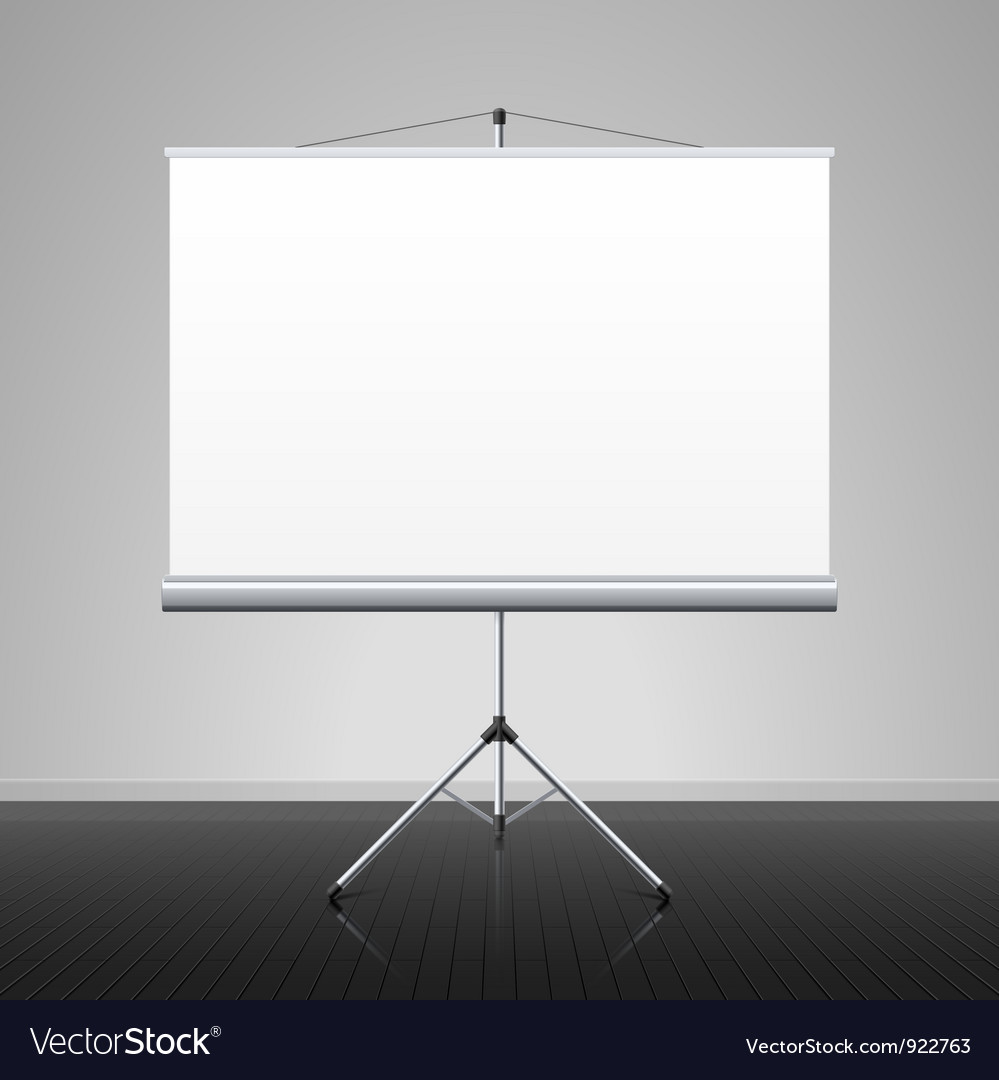 Projection screen vector image