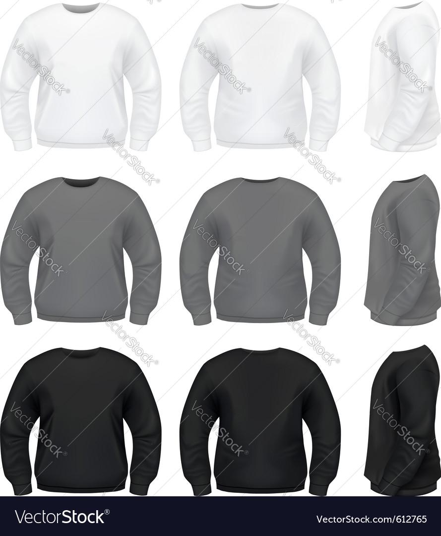 Realistic men sweater vector image