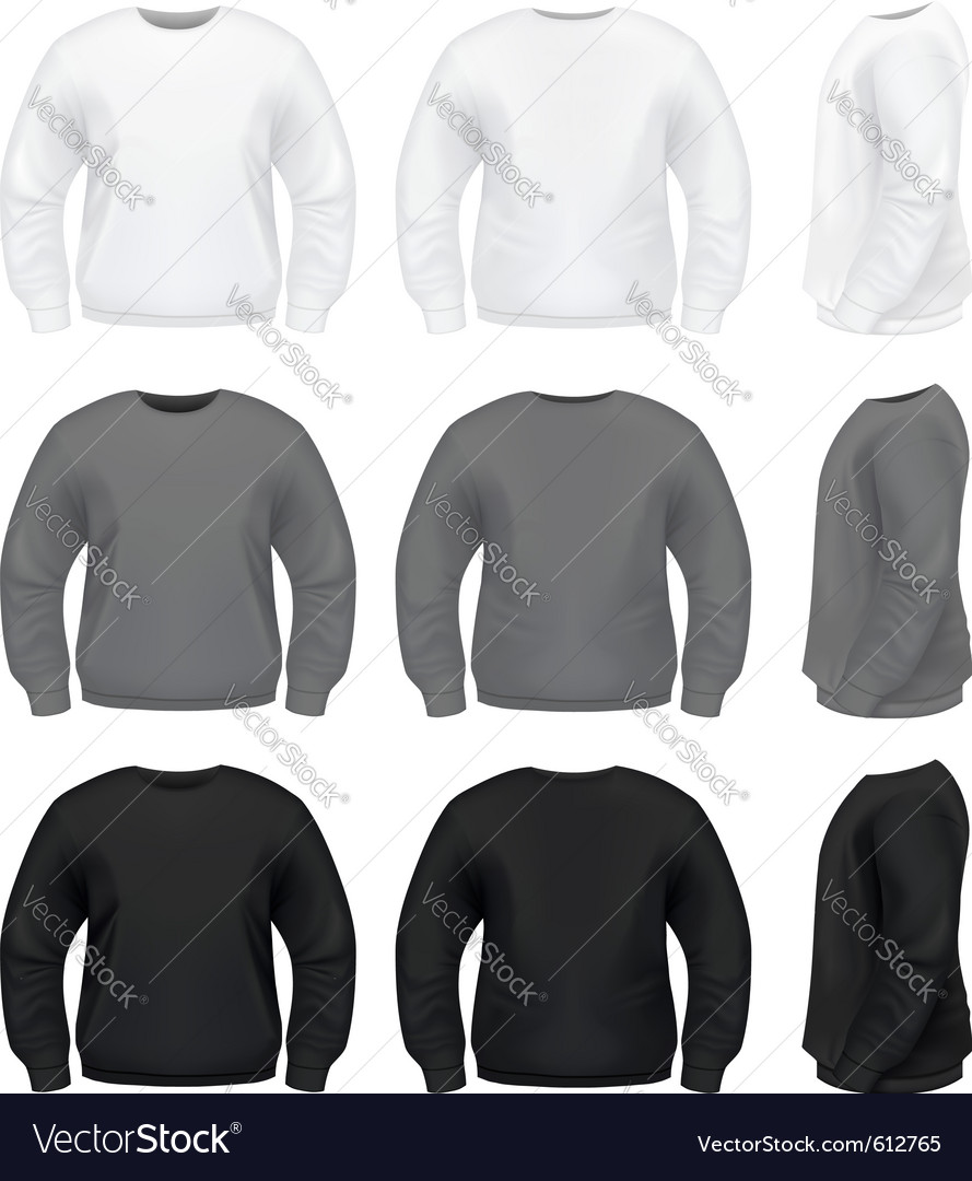 Realistic men sweater vector image