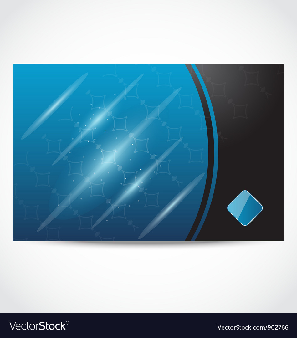 Modern business card vector image