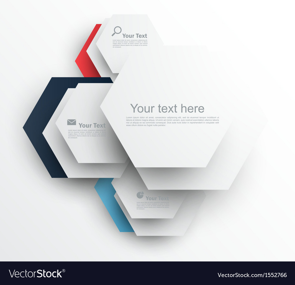 Design template with hexagons vector image
