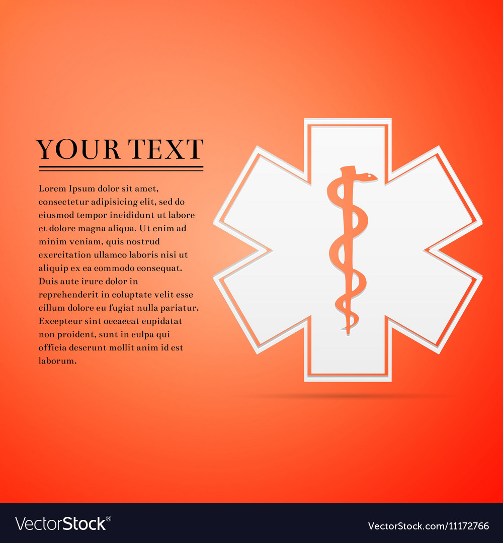Medical symbol of the Emergency - Star Life flat vector image