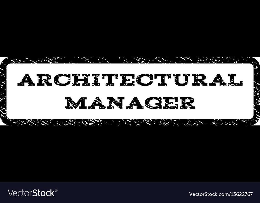 architectural manager watermark stamp vector image