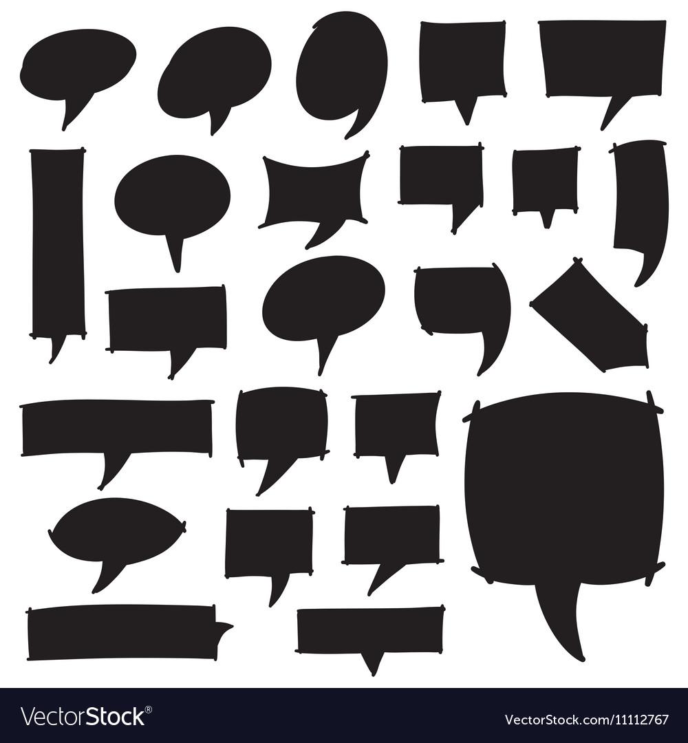 Marker Speech Bubbles vector image