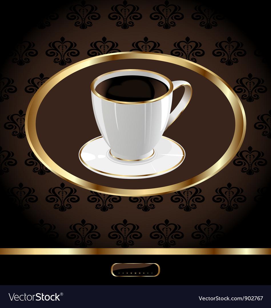 Vintage Coffee Packaging Background vector image