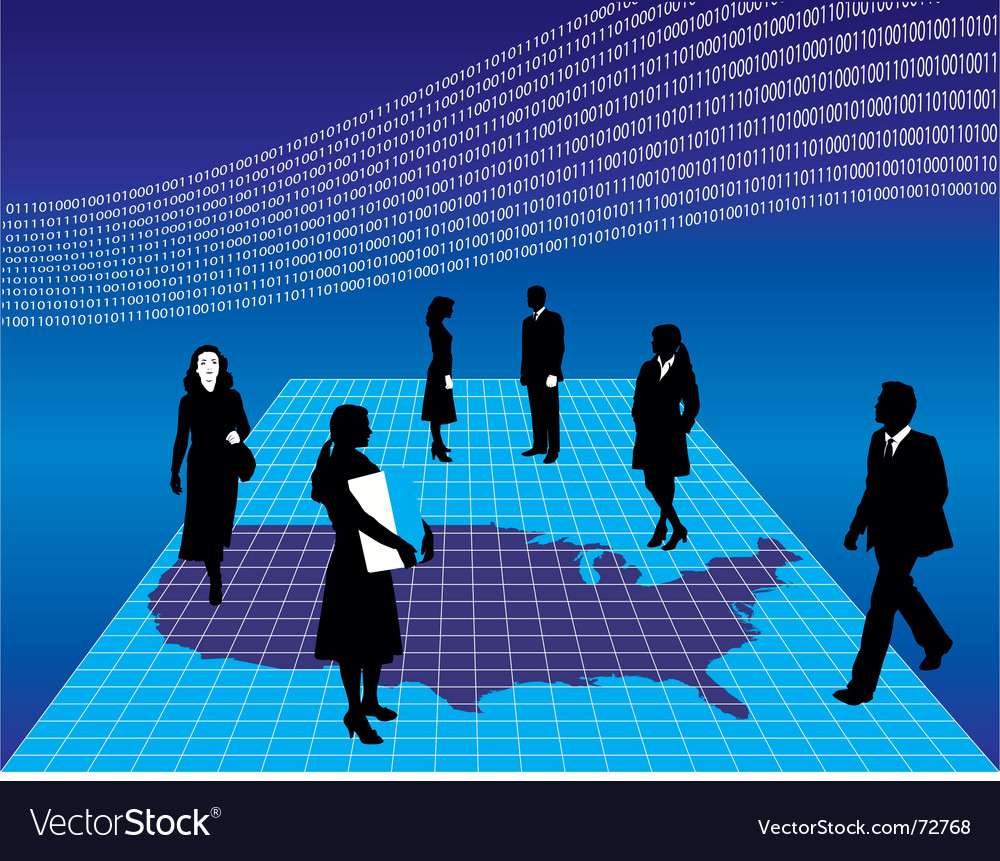 Business America vector image