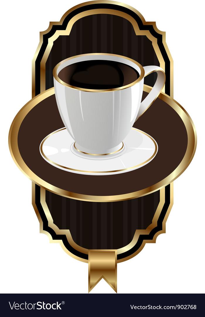 Vintage Coffee Label Background vector image