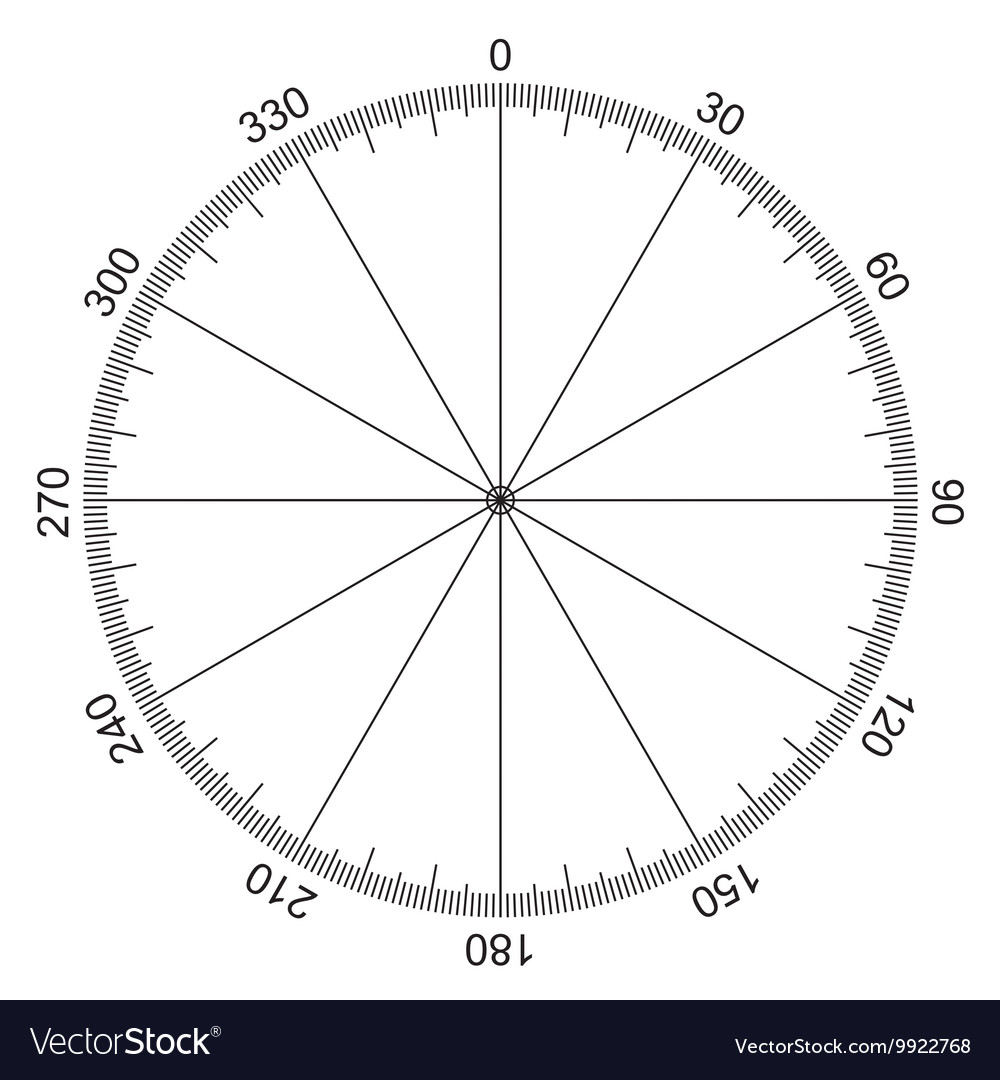 Circle with degrees marked vector image