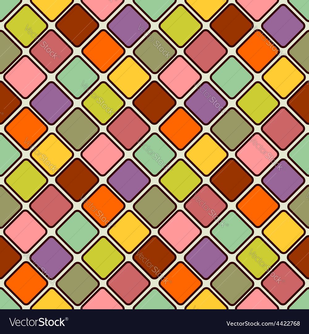 Glossy mosaic Abstract seamless background vector image