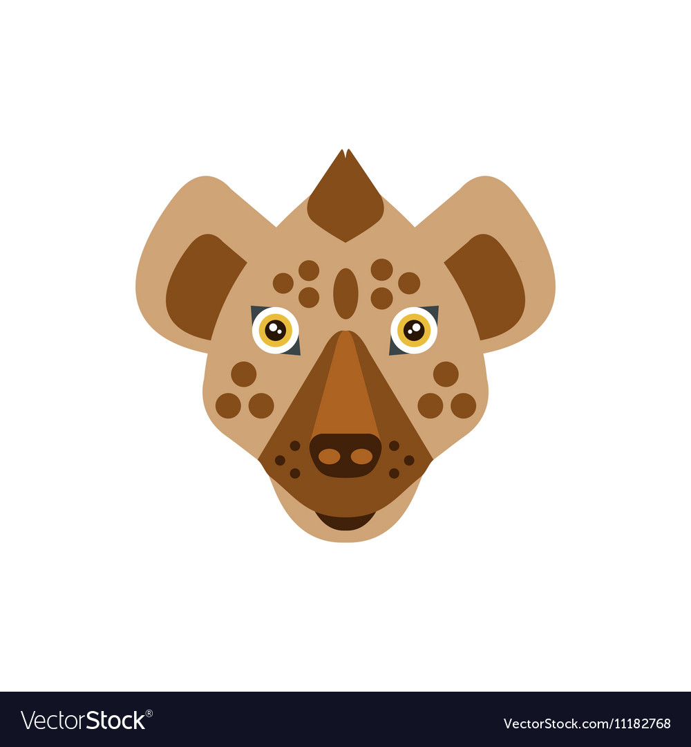 Hyena African Animals Stylized Geometric Head vector image