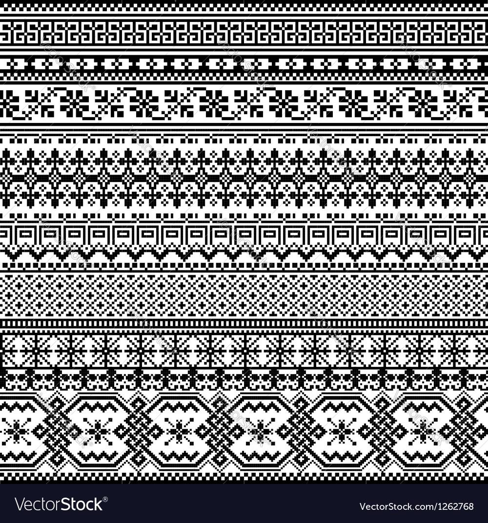 Inca iconography background vector image