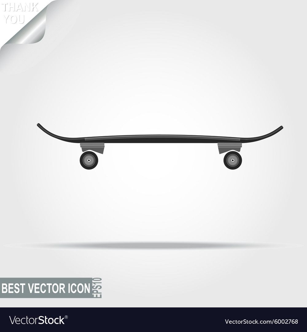 Skateboard sport icon - vector image