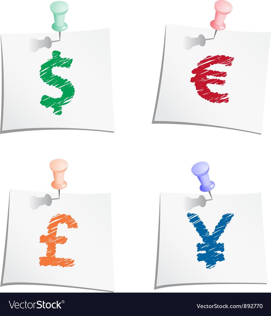 Hands draw money symbols vector image