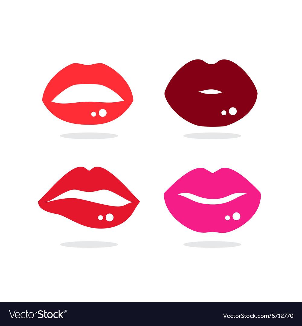 Kiss lip vector image
