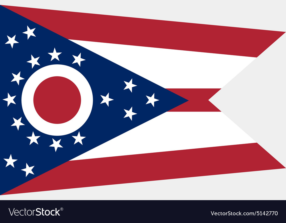 ohio flag royalty free vector image - vectorstock