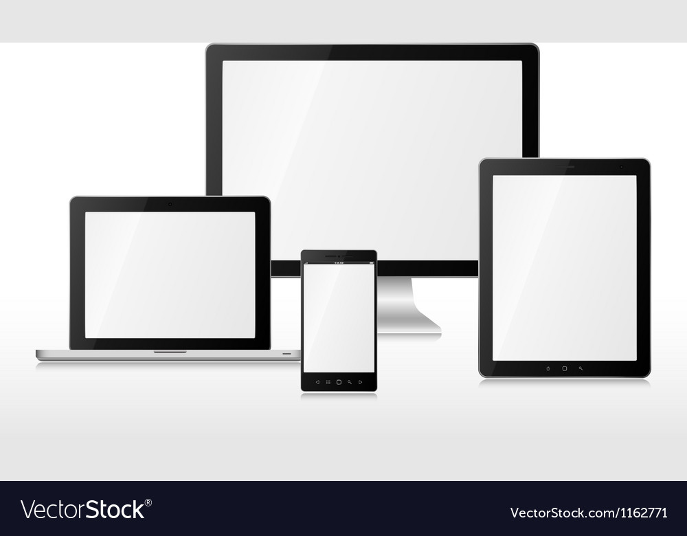 Group computers vector image