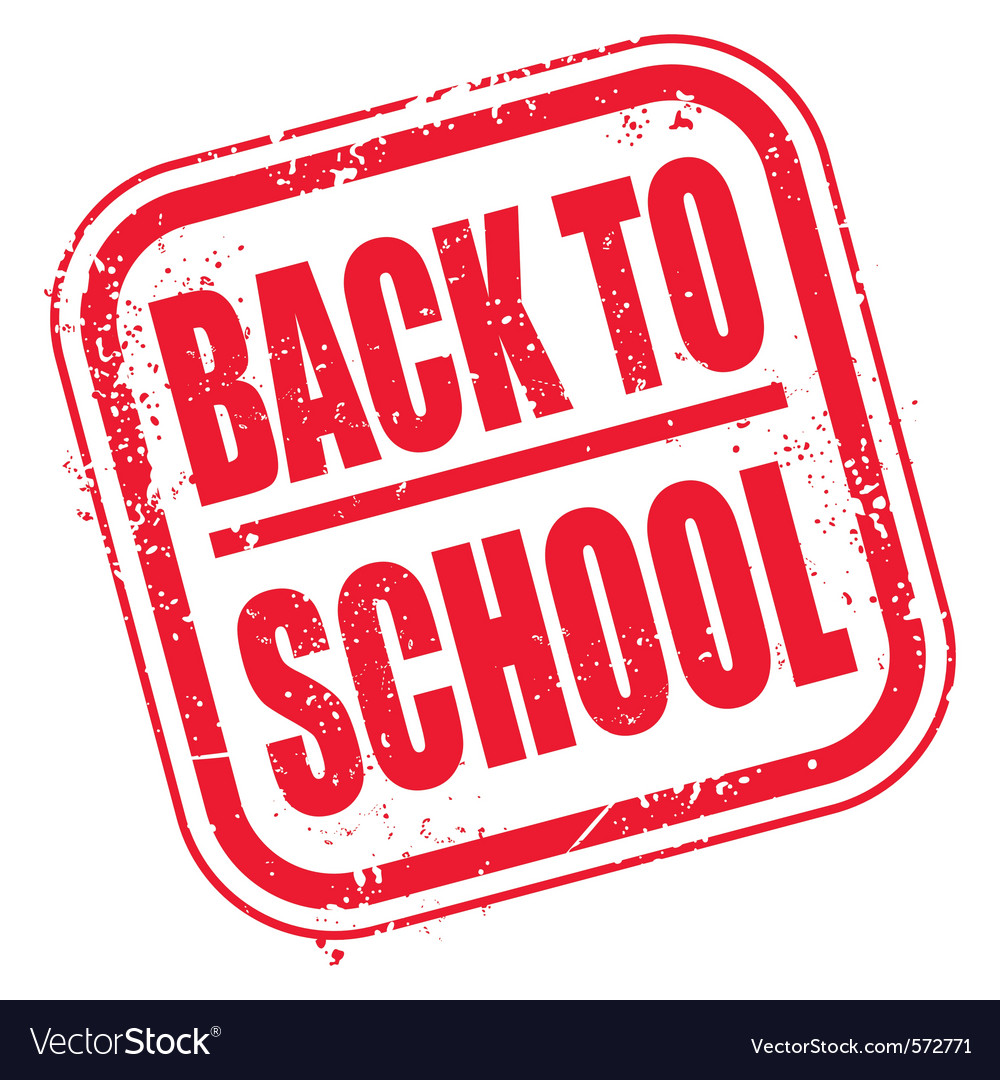 Grunge back to school stamp vector image