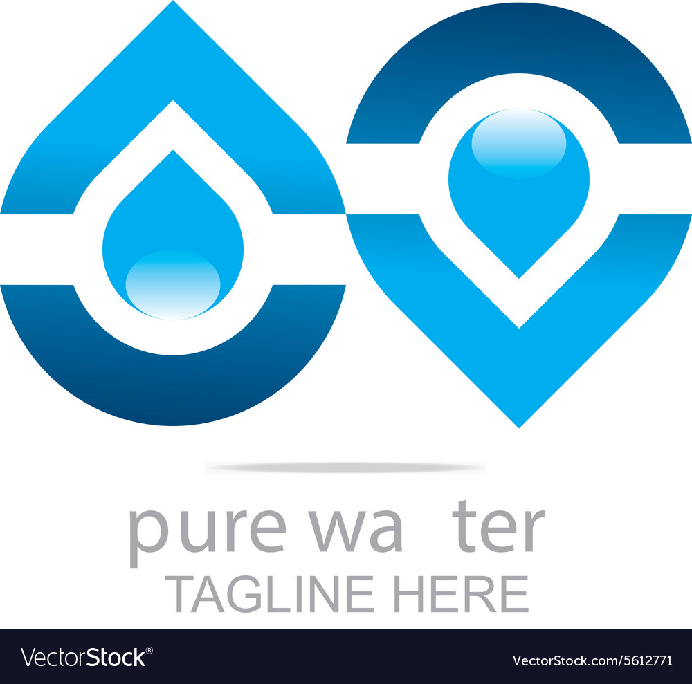 Pure water drop symbol icon liquid royalty free vector image pure water drop symbol icon liquid vector image biocorpaavc Image collections