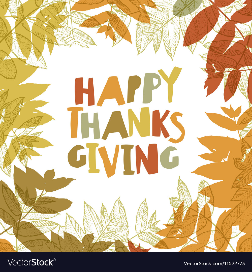 Happy Thanksgiving day design cover Holiday vector image