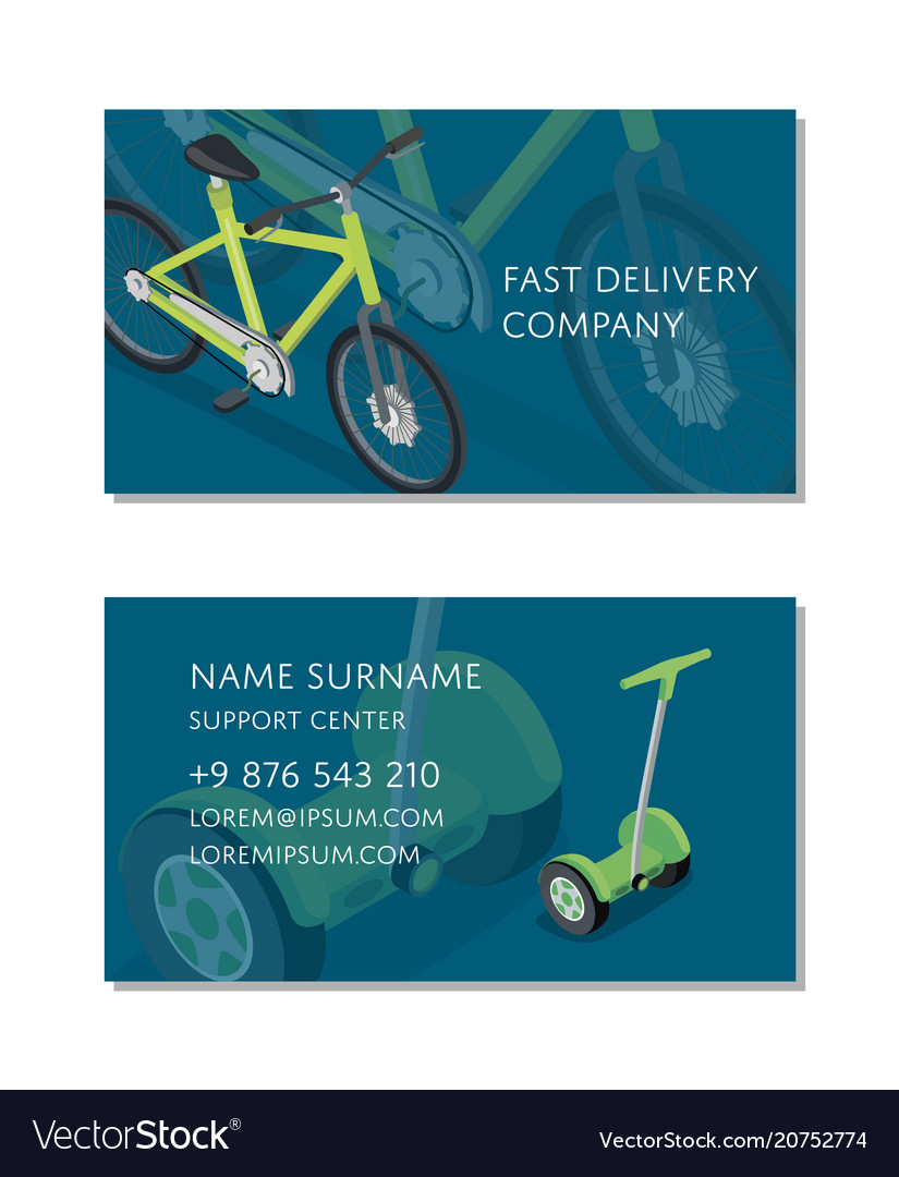 Fast delivery company business card template Vector Image