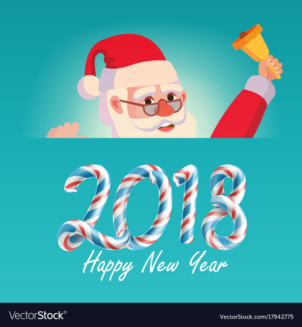 2018 merry christmas and happy new year greeting vector image kristyandbryce Image collections
