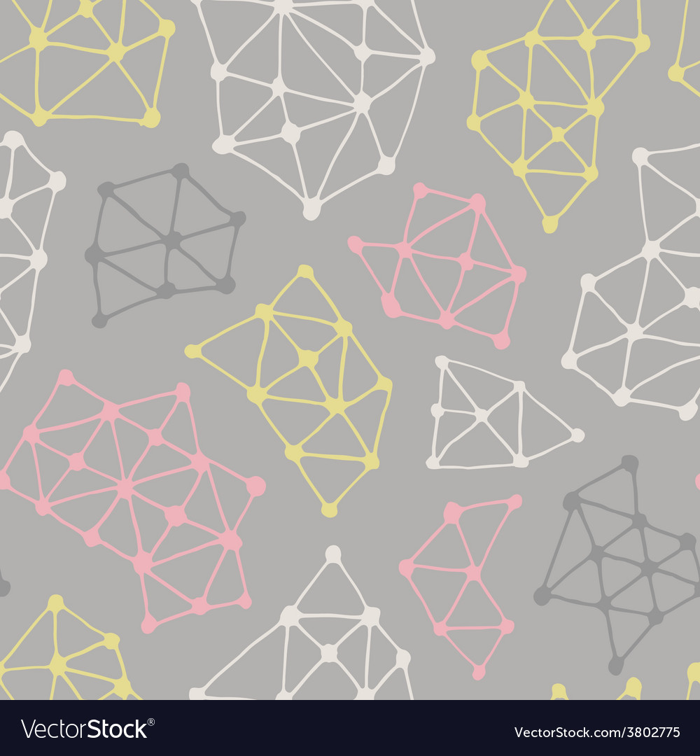 Abstract geometric pattern seamless background vector image