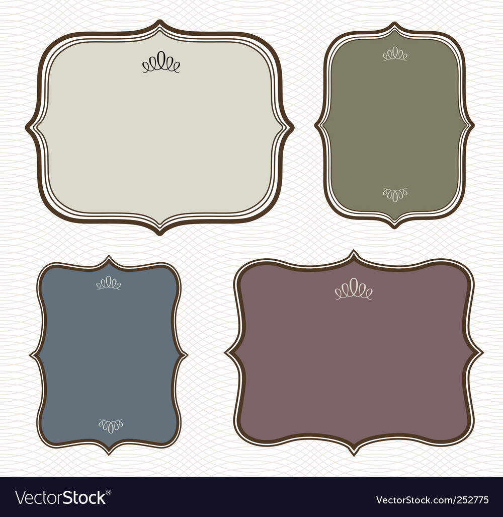 curved frame royalty free vector image  vectorstock - curved frame vector image