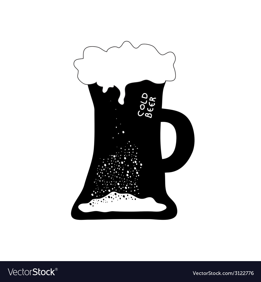 Cold beer art vector image