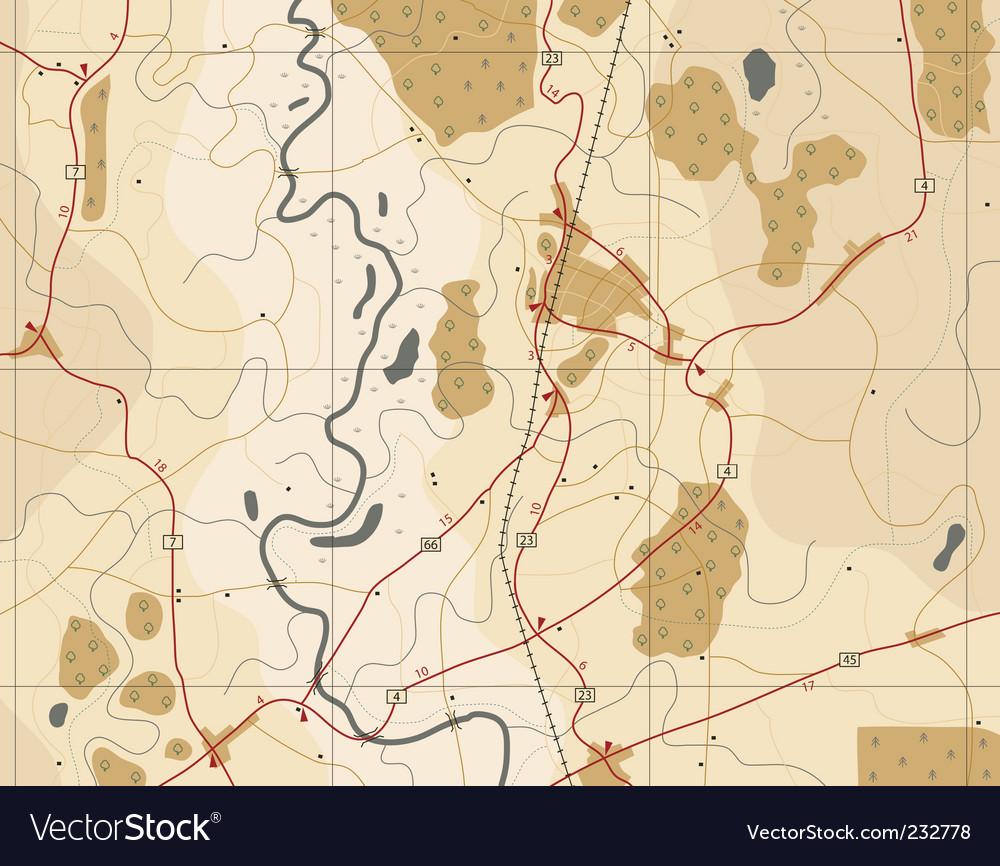 Generic road map vector image