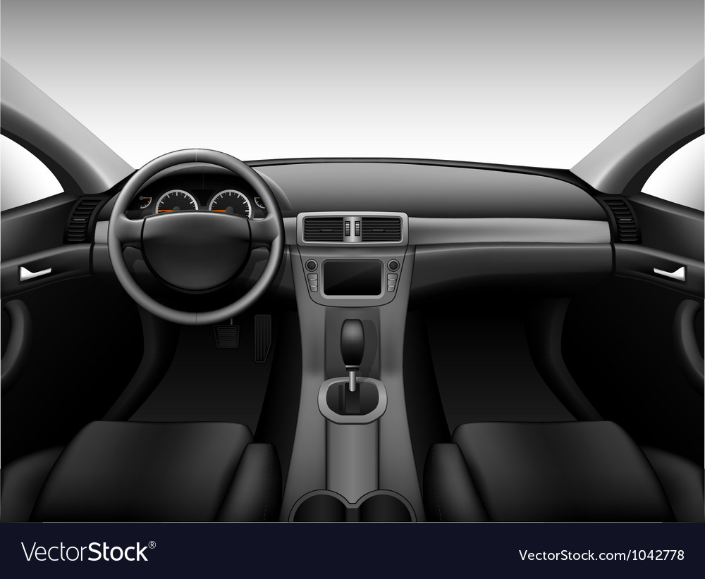 dashboard car interior royalty free vector image. Black Bedroom Furniture Sets. Home Design Ideas