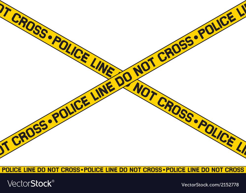 Police line - do not cross vector image