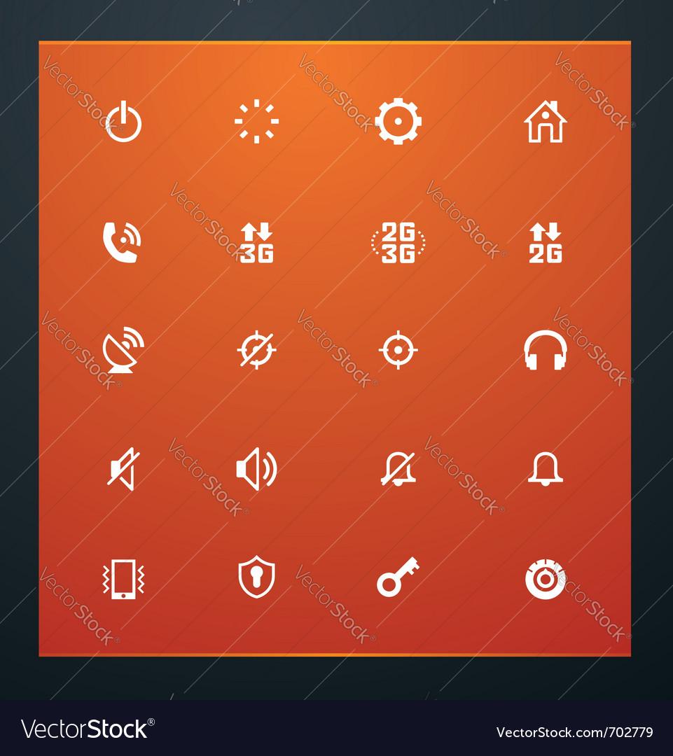 Universal glyphs 13 phone symbols 2 vector image