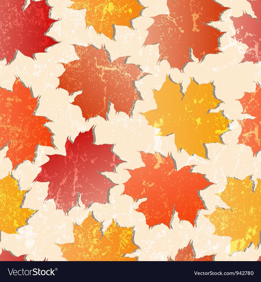Maple leaves seamless wallpaper vector image